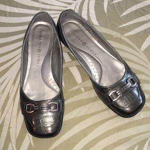 Karen Scott Orionn Loafer Shoes Flats Pewter Sz 9